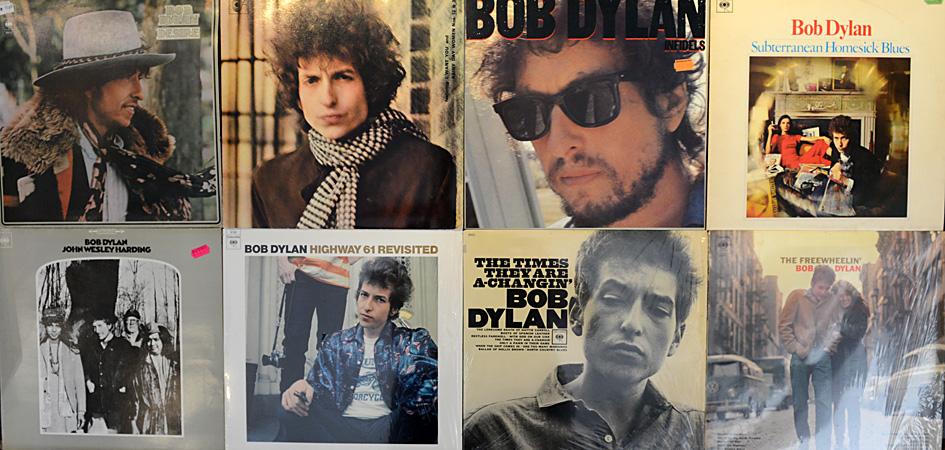 Schallplattensammlung Bob Dylan